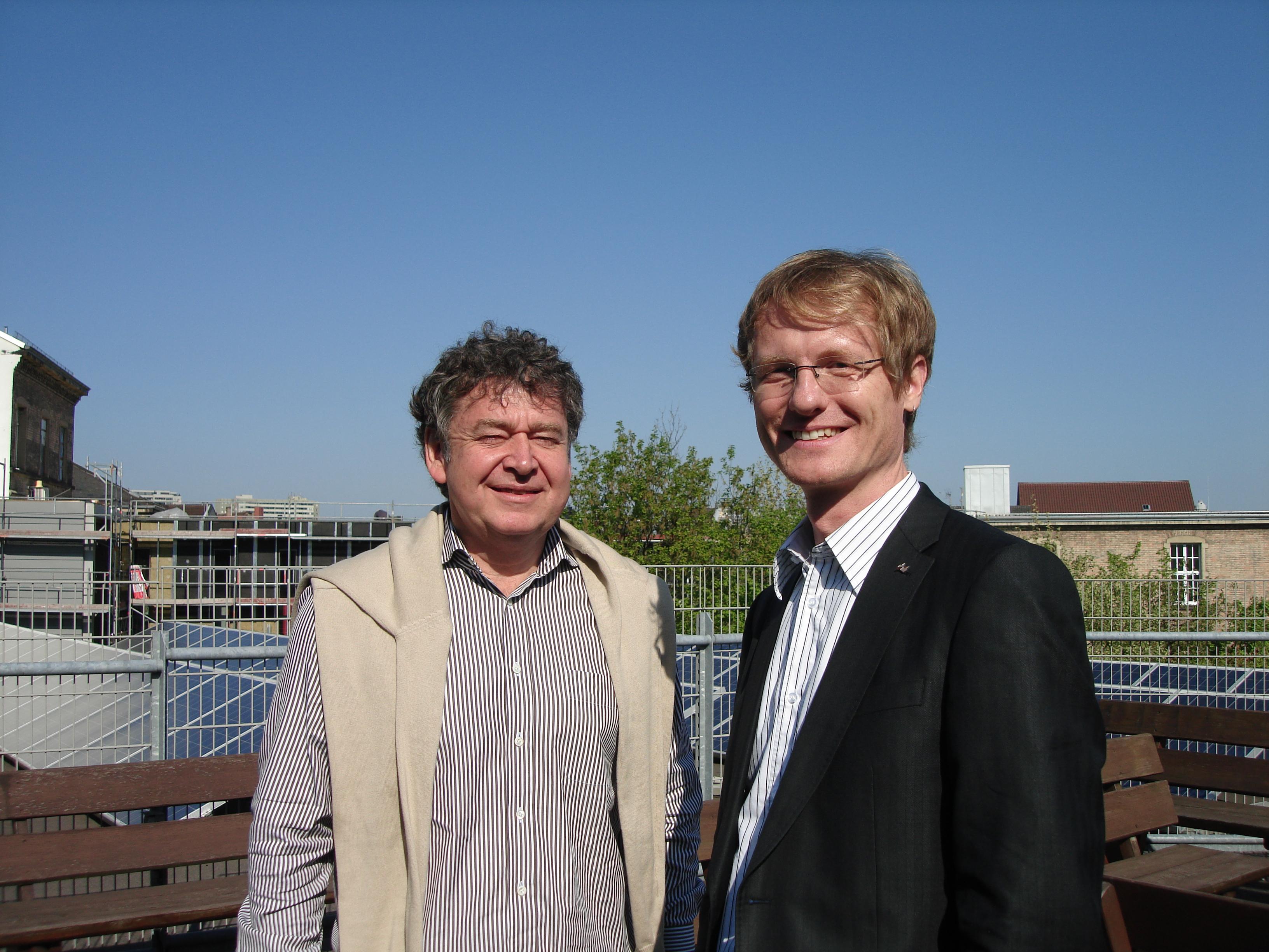 Prof. Stefan Luppold und Hendrik Hochheim