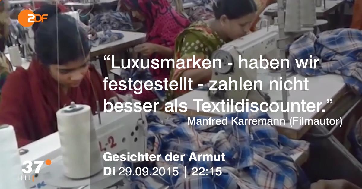 ZDF Reportage über Produktionsbedingungen der textilwirtschaft