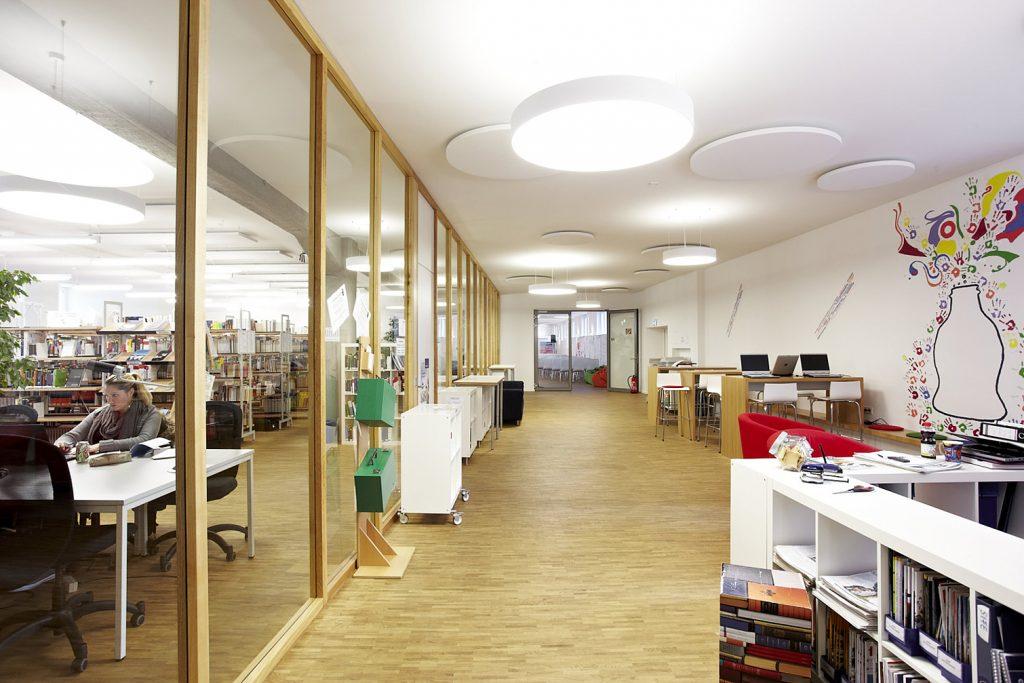 Karlshochschule Library Tape Art