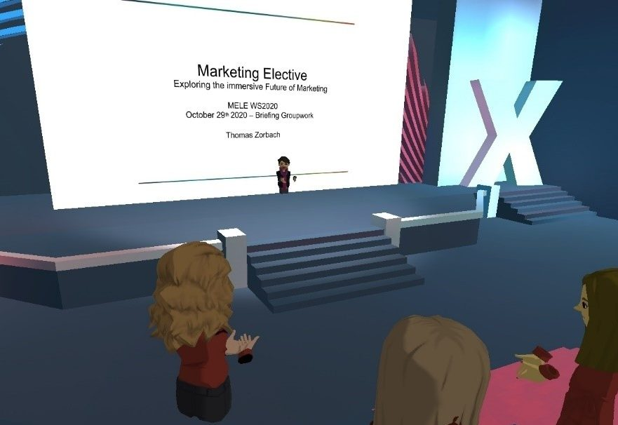 online lecture in the virtual reality