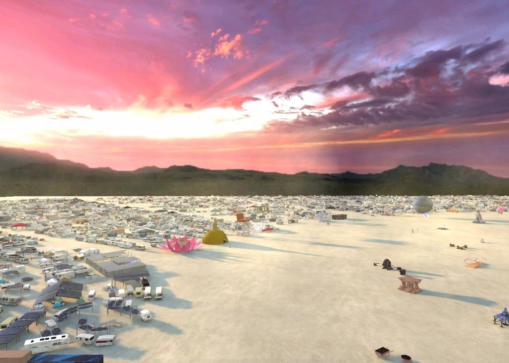 Black Rock City in VR