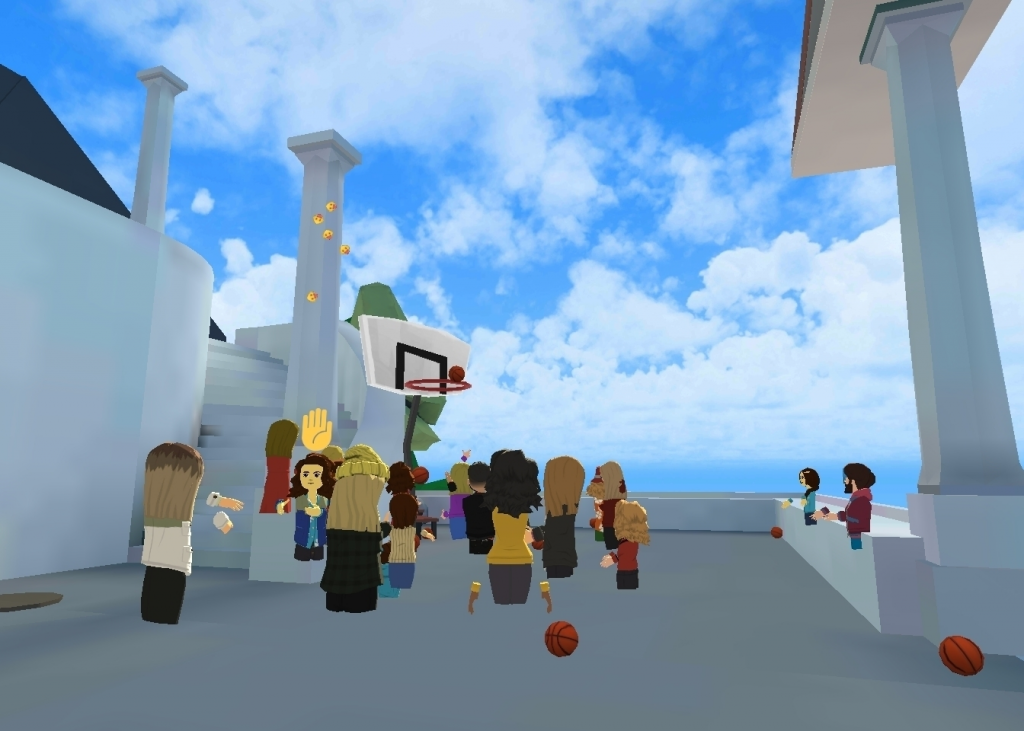 Playing basketball in the VR world