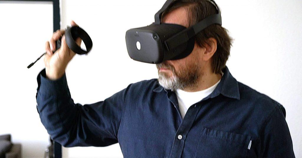 Thomas Zorbach with VR headset